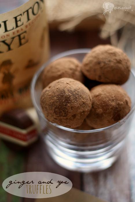 Ginger and Rye Boozy Truffles