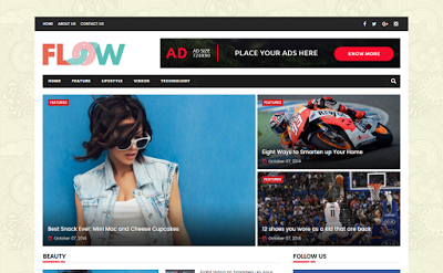 Flow Magazine Blogger Template is a uncomplicated Free Download Flow Magazine