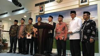 MUI Muhammadiyah NU bertemu Jokowi di Istana