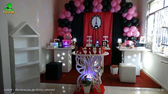 Decoração festa Paris para aniversário infantil feminino - Barra-RJ
