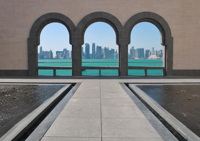 Una visita al Museo de Arte Islámico de Doha Terraza Vistas West Bay