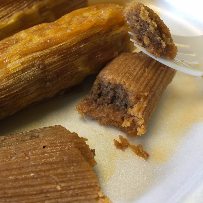Hot tamales at Solly's Hot Tamales in Vicksburg, Mississippi