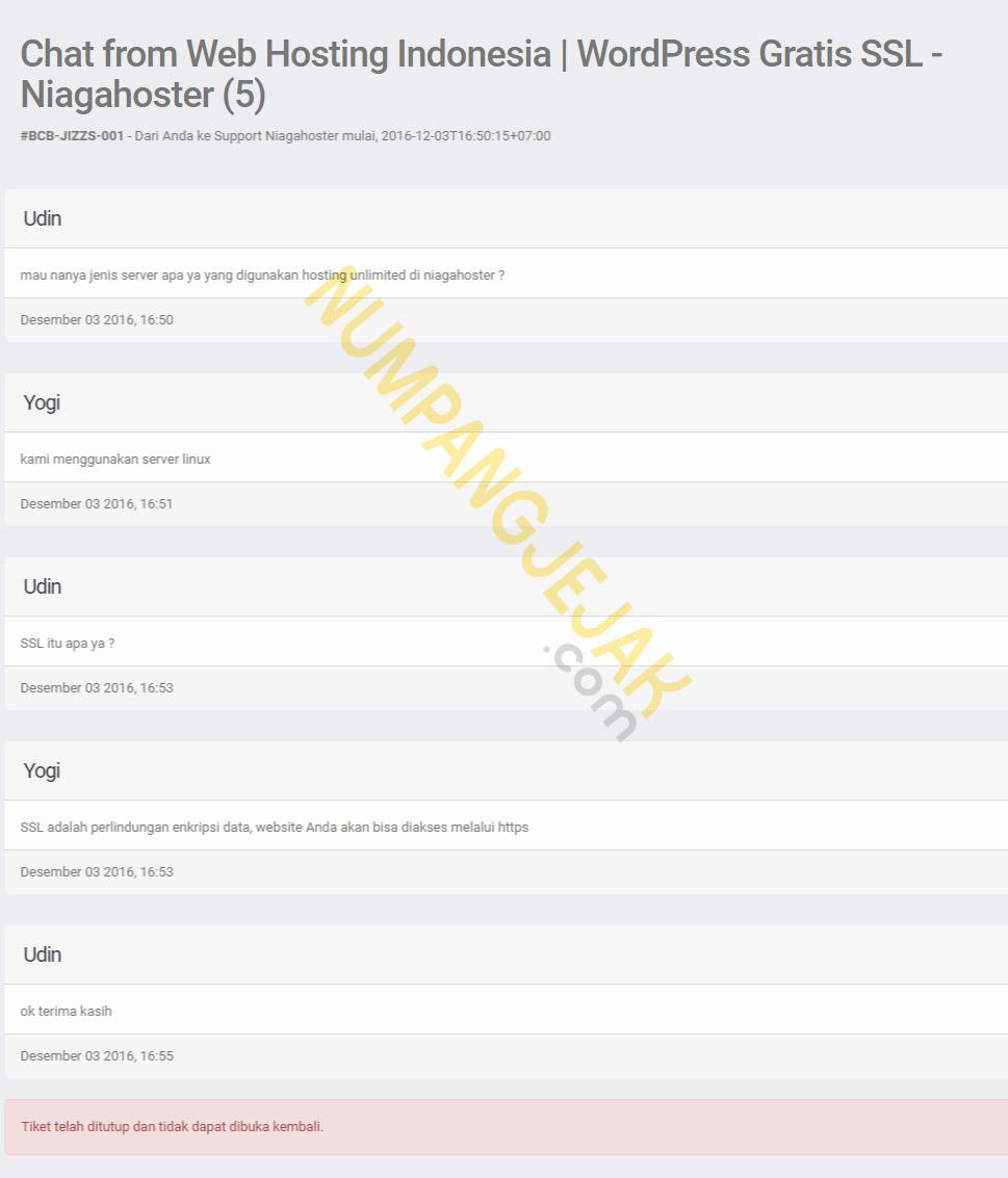 Review ulasan membeli domain blog di Niagahoster