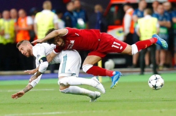 Sergio Ramos's tackle on Mohamed Salah