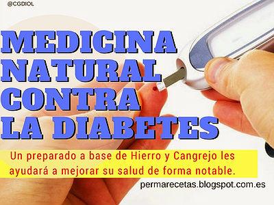Contra la diabetes, Medicina Natural con Solución de Hierro y Cangrejo