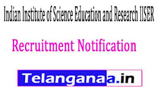 Indian Institute of Science Education and Research IISER Pune Recruitment Notification 2017
