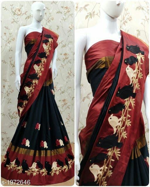 Fashionable Cotton Women's Saree