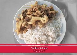 receta coliflor saltada