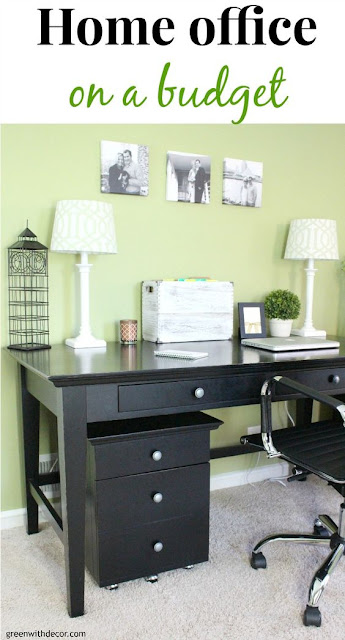 black desk home office