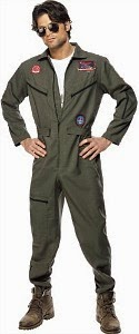 Top Gun jumpsuit costume for men
