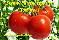 Skin beautiful use Tomatoes