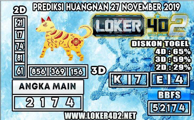 PREDIKSI TOGEL HUANGNAN POOLS LOKER4D2 27 NOVEMBER 2019