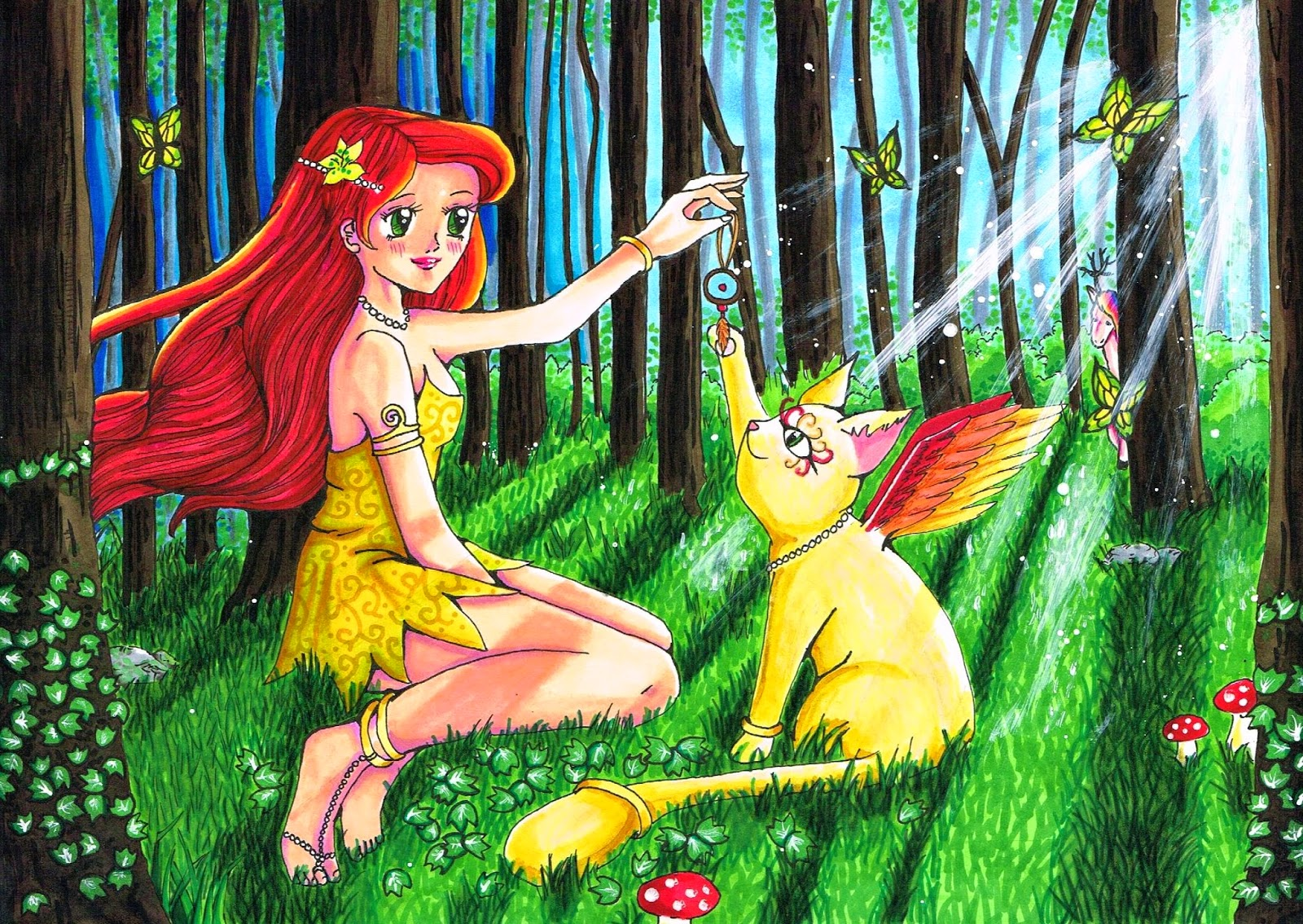 Magical Friends Fantasy forrest wald