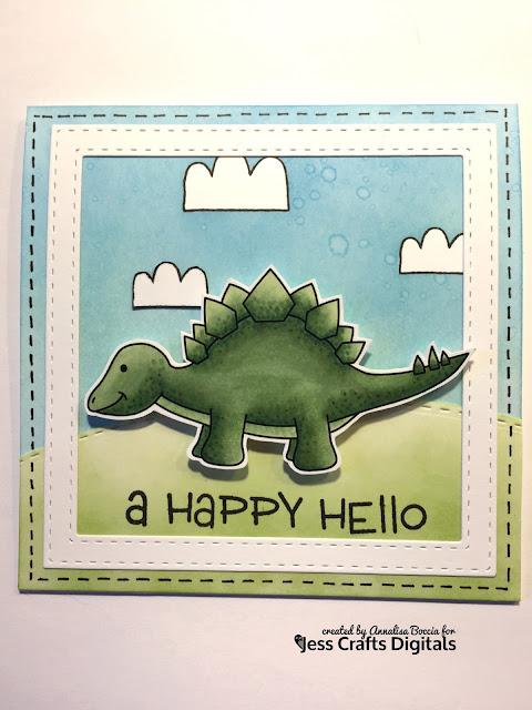 Dinosaur Card featuring Jess Crafts Digitals Delightful Dinos Steggy