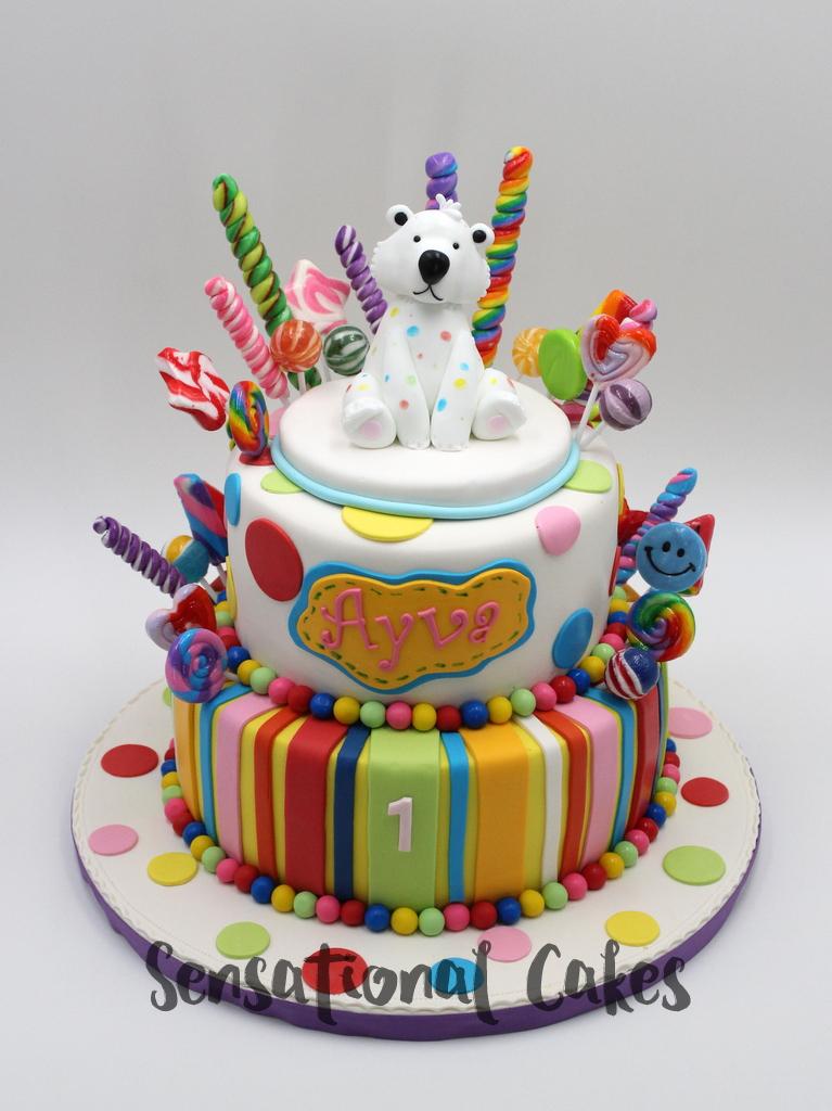 The Sensational Cakes: Sweet Candies pops, polka dots Polar