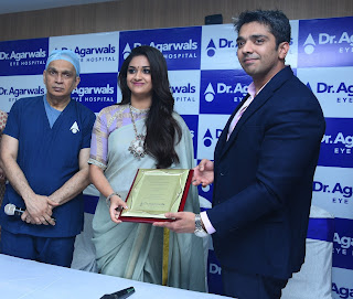 Keerthy Suresh with Cute and Lovely Smile in Dr Agarwals Eye Hospital Opening 3