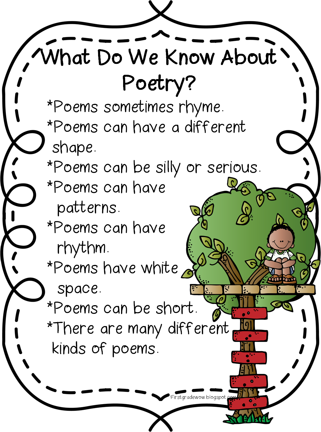 First Grade Wow Happy Poetry Month