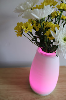 pink light up vase