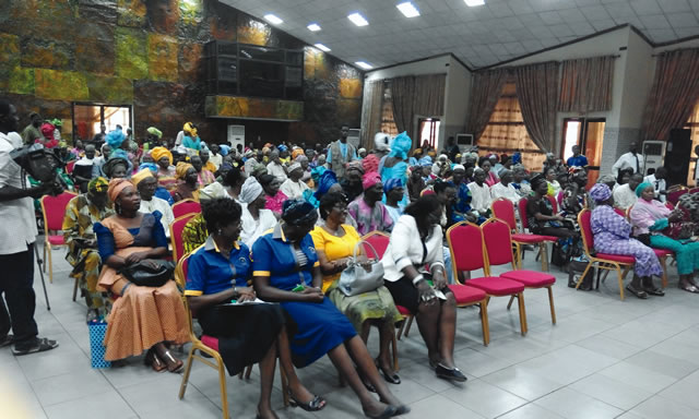 Retirees under the Contributory Pension Scheme, at a retirement bond presentation in Lagos