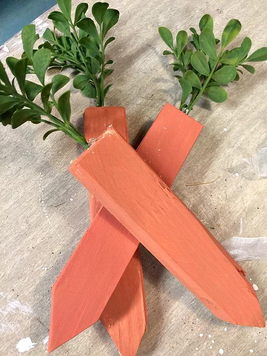 wood scrap carrots