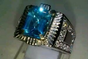 cara merawat cincin blue topaz