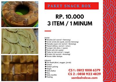 snack box enak di daerah cipadu