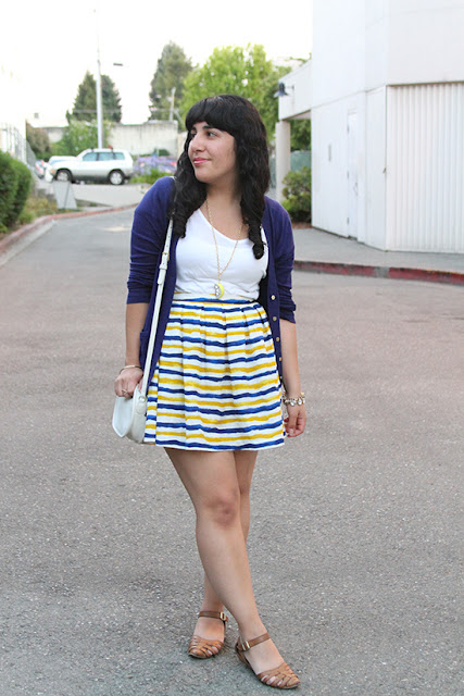 Blue and Yellow Stripe Outfit Style Inspiration