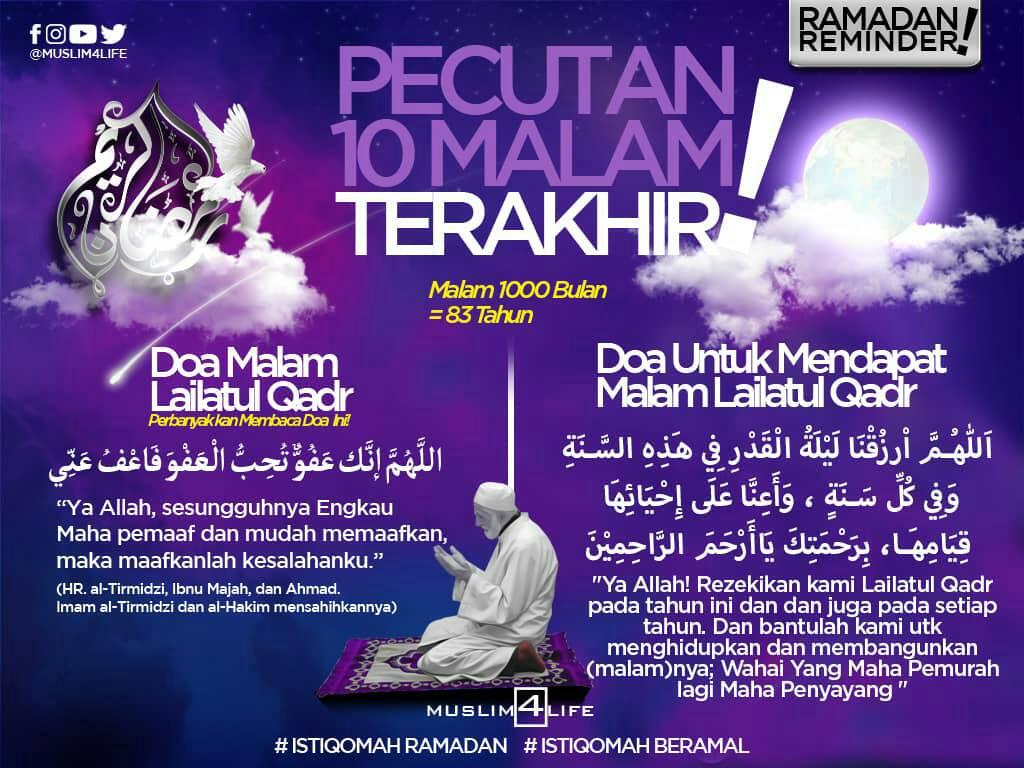Doa untuk bertemu malam Lailatul Qadr