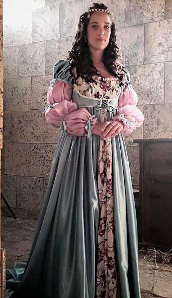 Vestido verde da Elizabeta (Adriana Birolli)