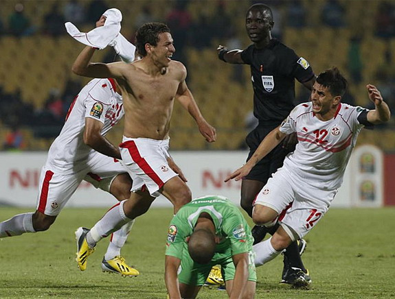 How Tunisia players celebrate victory
