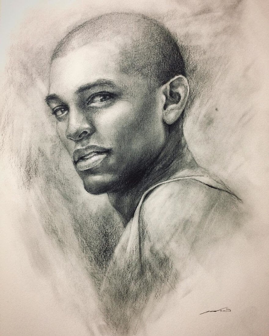 12-Training-Portrait-Study-Yoshi-Portrait-Drawings-of-People-on-Instagram-www-designstack-co