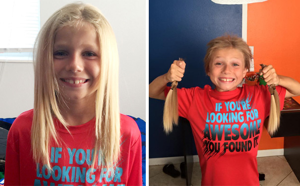 #5 This 8-Year-Old Boy Was Bullied For 2 Years While Growing His Hair Long To Make Wigs For Kids With Cancer - 12 Kids Who'll Restore Your Faith In Humanity