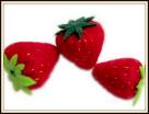 felt strawberry