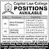 Capital Law Colleges Rawalpindi Jobs