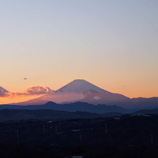 湘南平 高麗山公園 夕焼け 富士山