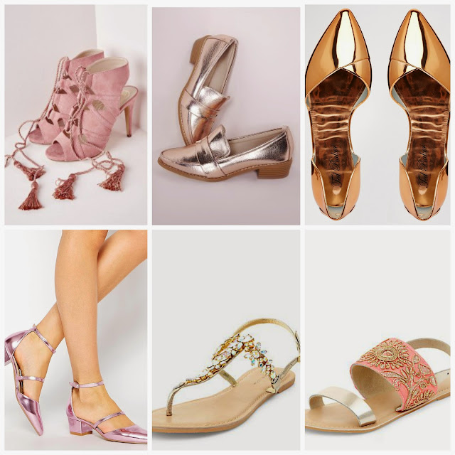 Shoes Pink Gold Rose