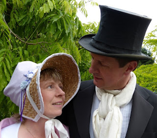 "Andrew and Rachel Knowles as  ""Elizabeth Bennet and Mr Darcy"""