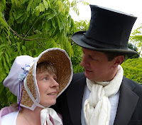"""Andrew and Rachel Knowles as """"Elizabeth Bennet and Mr Darcy"""""""