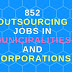 Recruitment of 852 Outsourcing posts in Municipality Corporation in AP