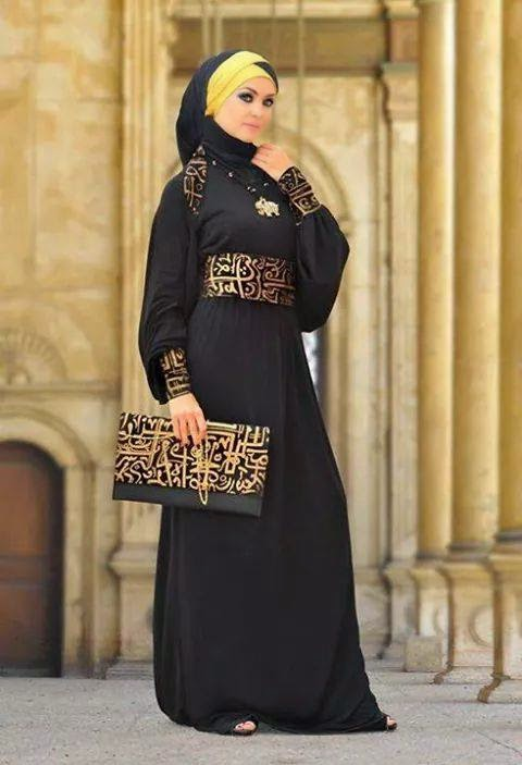 Latest-Fancy-Casual-Party-Wear-Abaya-With-Hijab-HD-Images