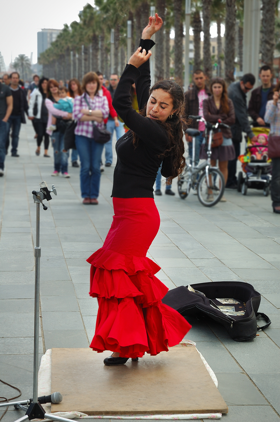 Bailora de Flamenco - Flamenco dancer at La Barceloneta