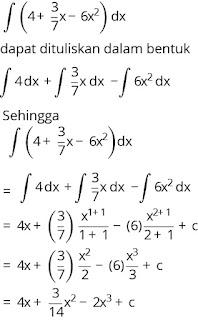 Pembahasan soal integral nomor 4