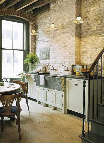 Exposed Brick In The Kitchen Loft Cottage