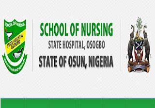 Osun State School of Nursing Osogbo Admission Form On Sale - 2018/2019