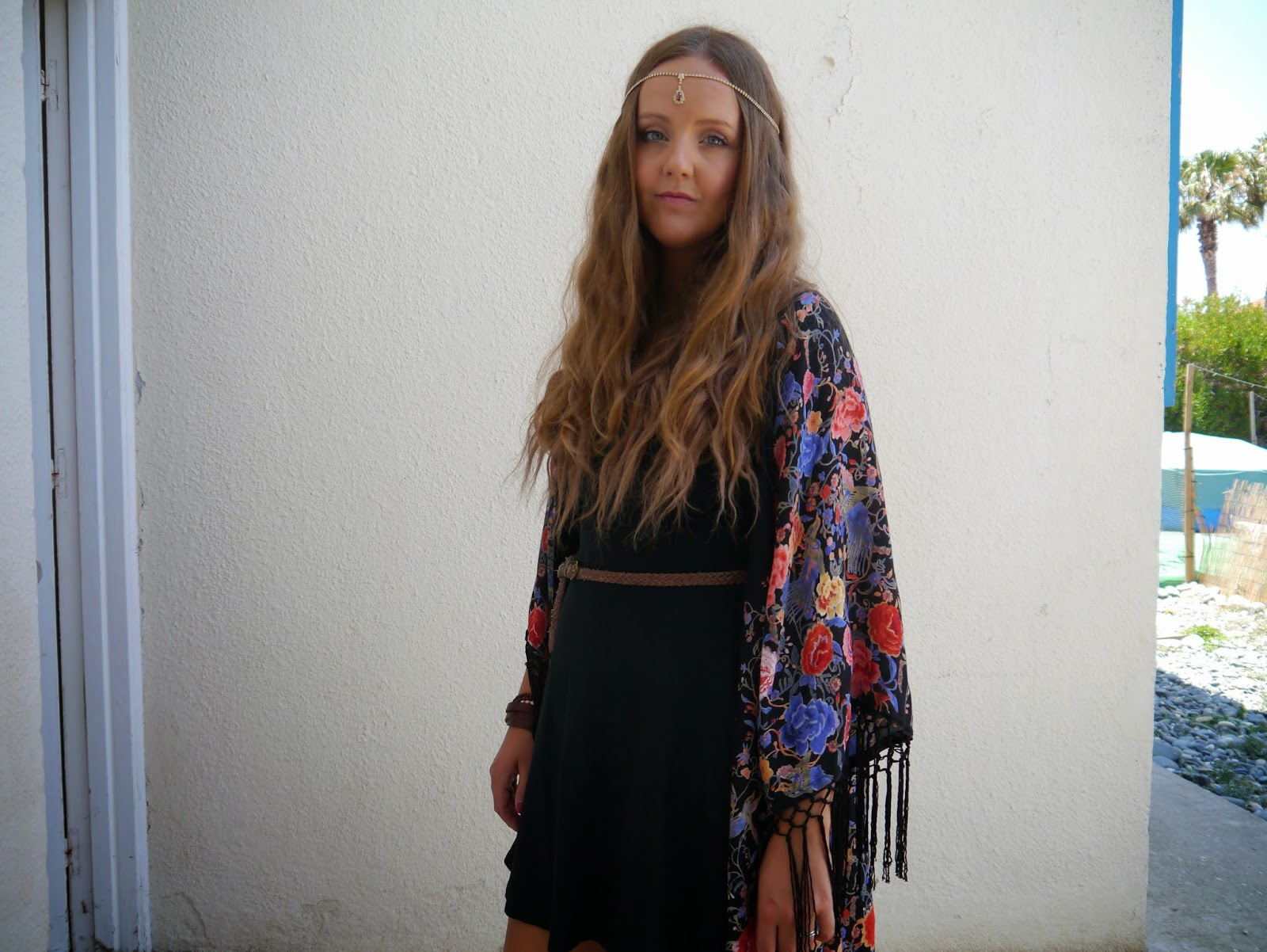 A photo of primark kaftan, topshop dress, sandals and jewellery