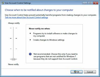disable uac windows 7