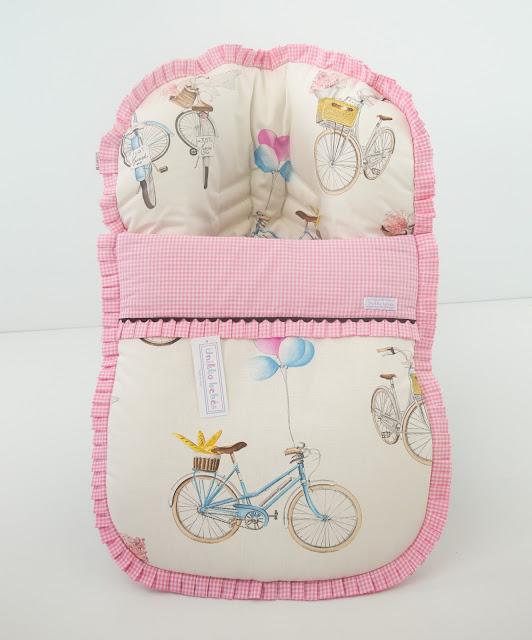 saco grupo 0 bicicletas rosa chocolate