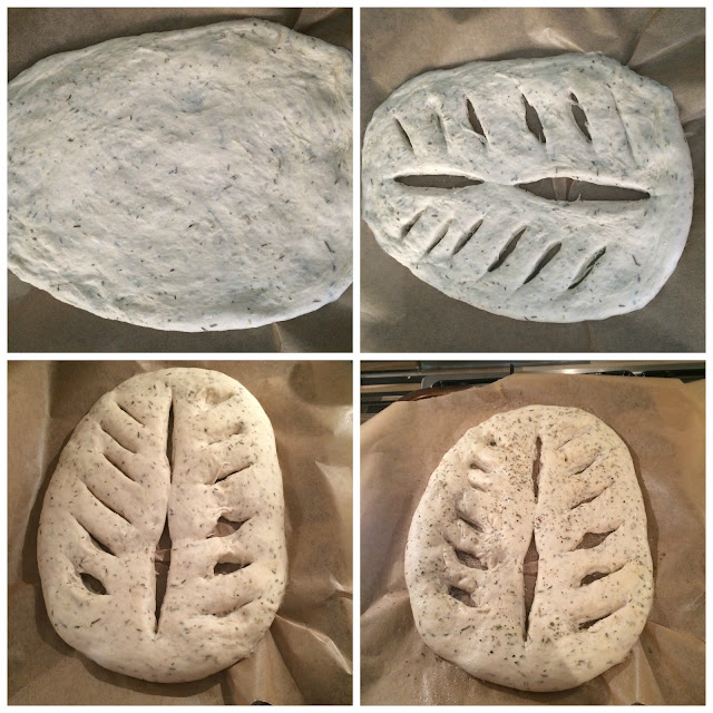 Photos of the steps for Shaping the Fougasse