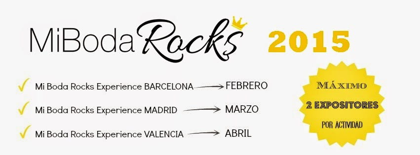 reserva stand mi boda rocks experience 2015 Barcelona Madrid Valencia showroom nupcial