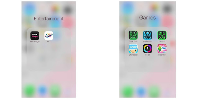 iPhone Entertainment and Games Folders